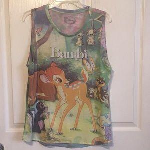🍀 Disney Bambi Sz XL Tank Top